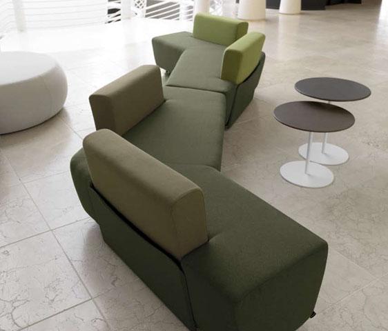 Divani design modulari e componibili per la zona attesa del Nail ...