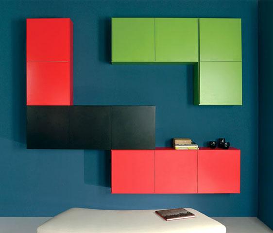 Parete Colorata Grigio: Arredamento soggiorno befree ...