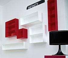 Mensole espositori pareti attrezzate per esporre i for Arredamento nail center