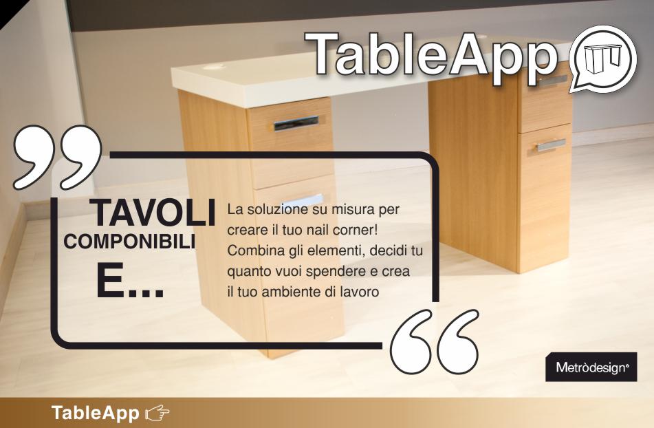Tavolo Da Lavoro Ricostruzione Unghie : Tavolo ricostruzione unghie metròdesign arredamento per nail center