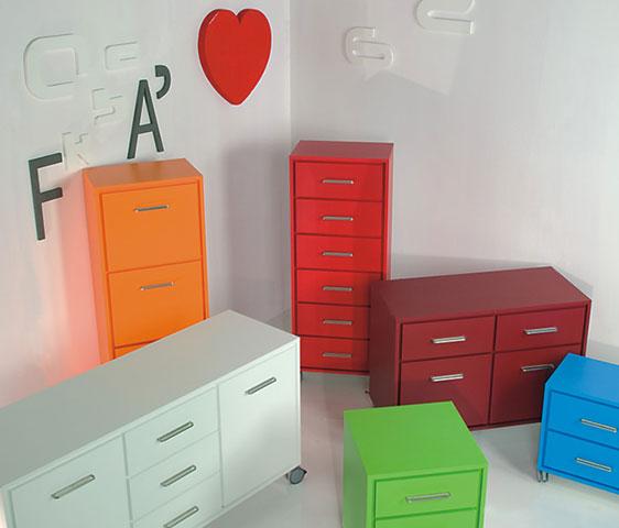 incas cassettiere e contenitori con ruote per arredamento