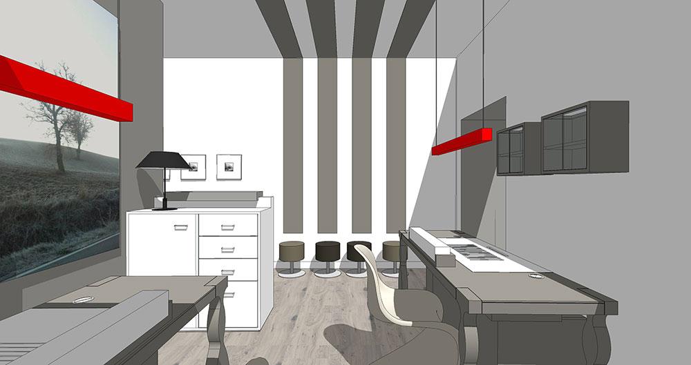 Studio progettazione di allestimento per nail center con for Arredamento nail center